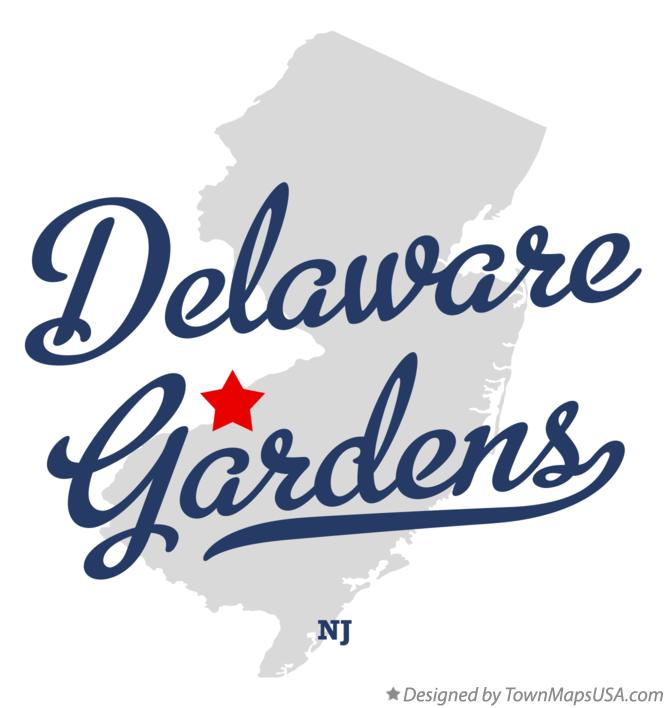 Map of Delaware Gardens New Jersey NJ