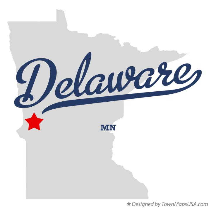 Map of Delaware Minnesota MN