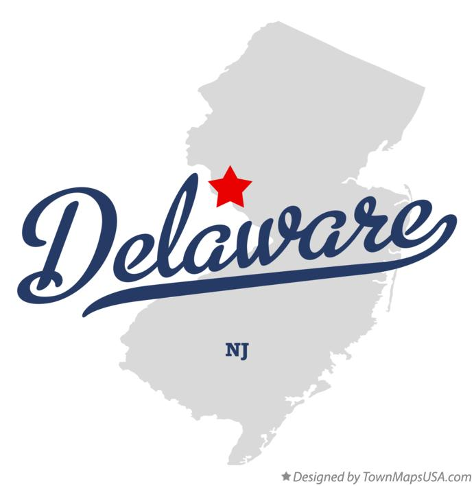 Map of Delaware New Jersey NJ