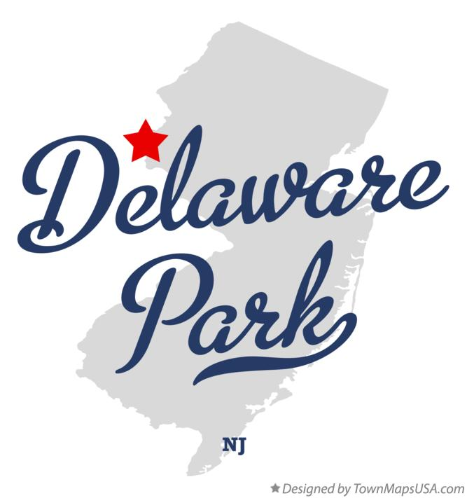 Map of Delaware Park New Jersey NJ