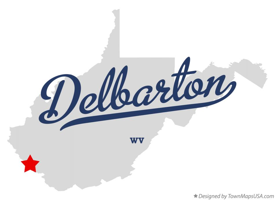 Map of Delbarton West Virginia WV
