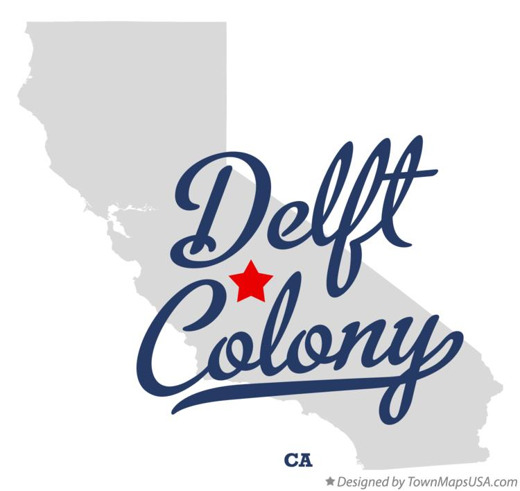 Map of Delft Colony California CA
