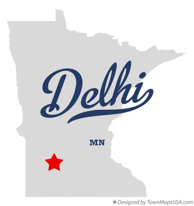 Map of Delhi Minnesota MN