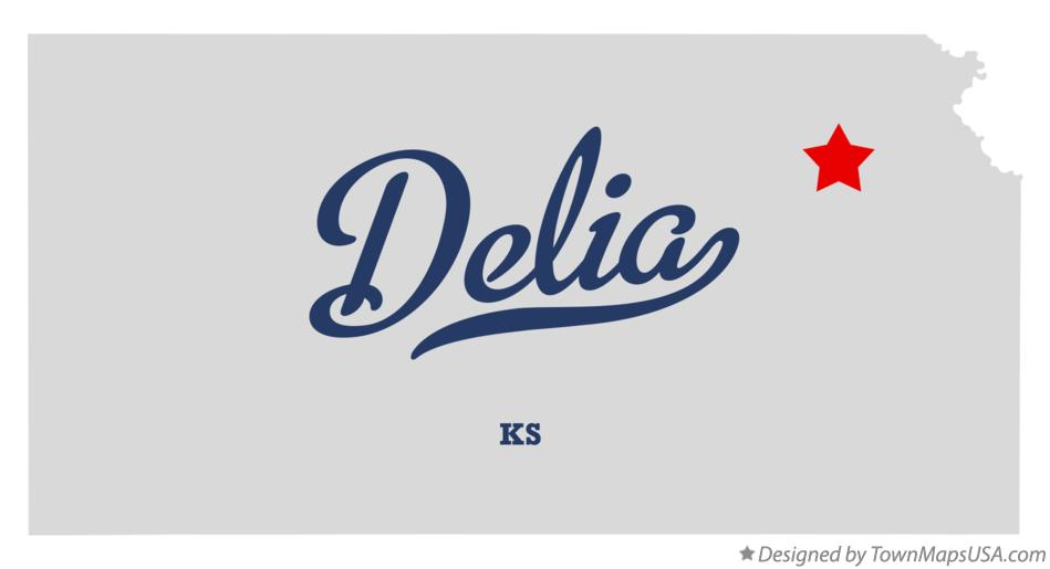 Map of Delia Kansas KS