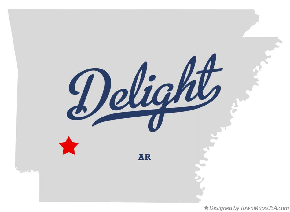 Map of Delight Arkansas AR