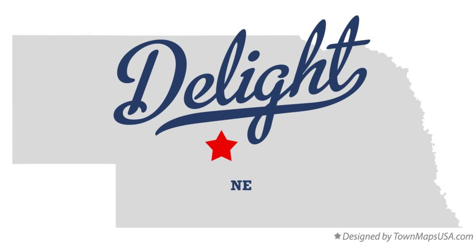 Map of Delight Nebraska NE
