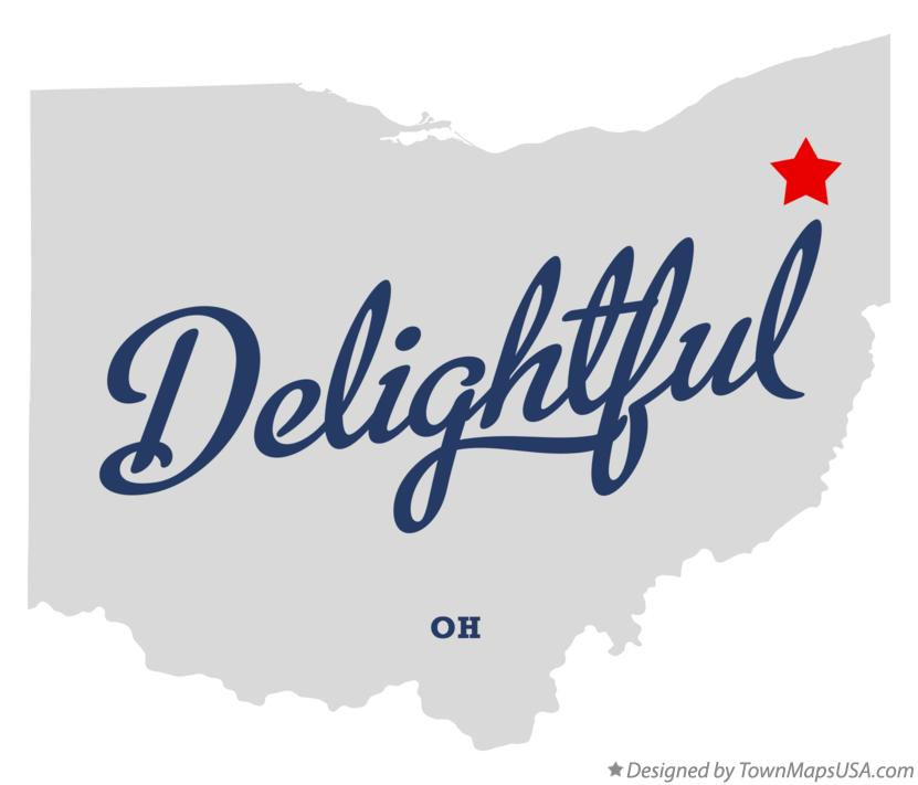 Map of Delightful Ohio OH