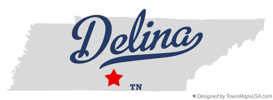 Map of Delina Tennessee TN