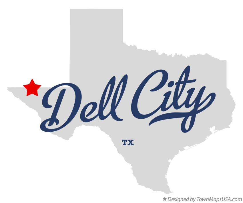 Map of Dell City Texas TX