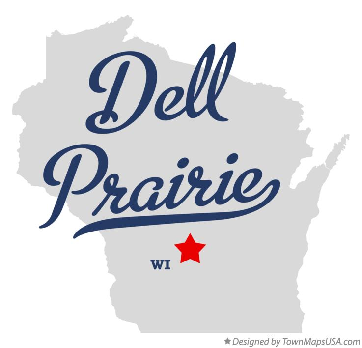 Map of Dell Prairie Wisconsin WI