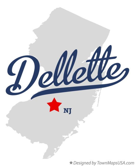 Map of Dellette New Jersey NJ