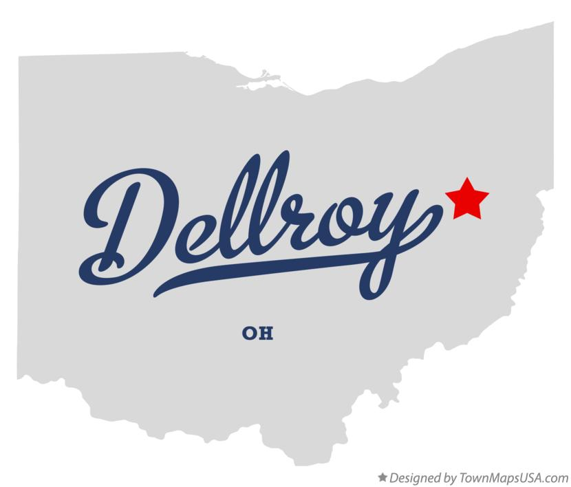 Map of Dellroy Ohio OH