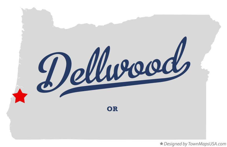 Map of Dellwood Oregon OR