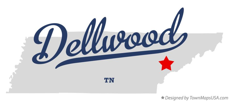 Map of Dellwood Tennessee TN