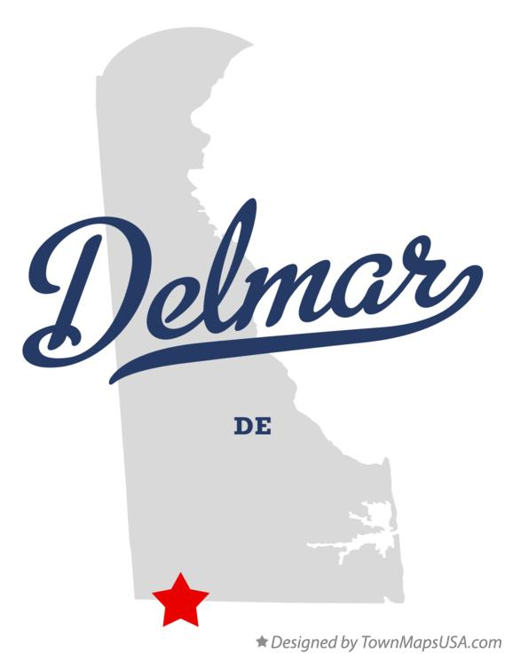 Map of Delmar Delaware DE