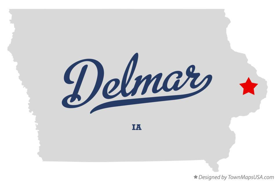 Map of Delmar Iowa IA