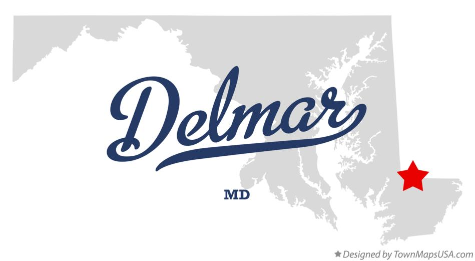 Map of Delmar Maryland MD