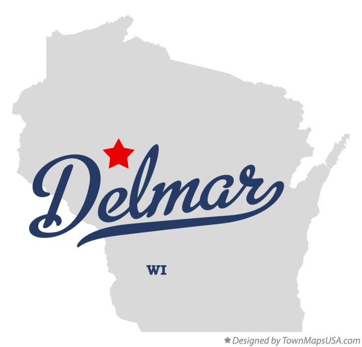 Map of Delmar Wisconsin WI