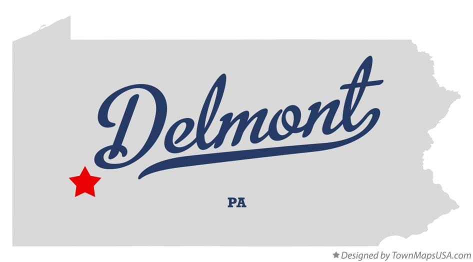 Map of Delmont Pennsylvania PA