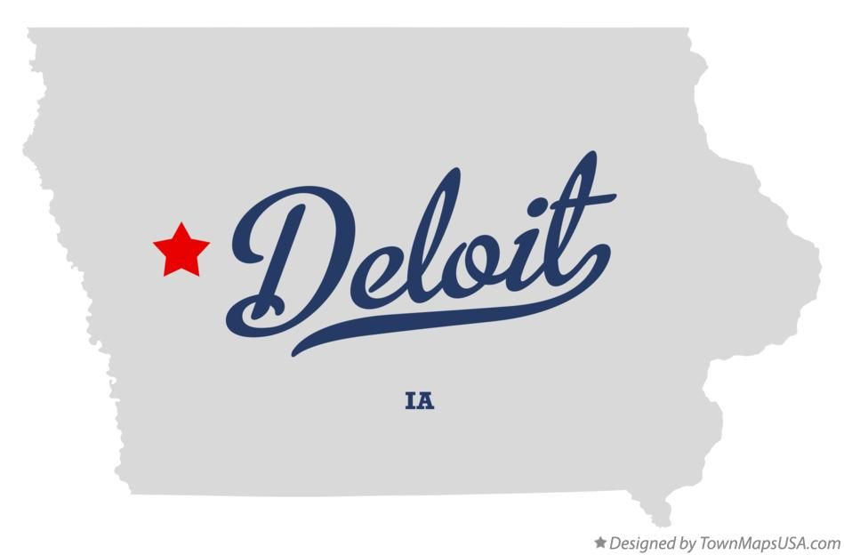 Map of Deloit Iowa IA