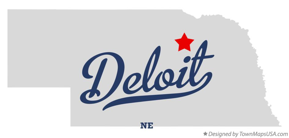 Map of Deloit Nebraska NE