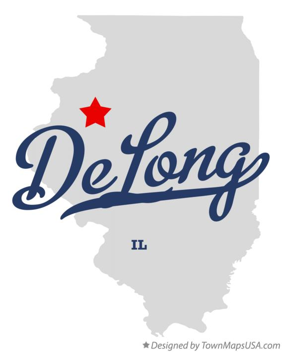 Map of DeLong Illinois IL