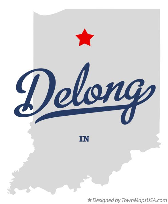 Map of Delong Indiana IN