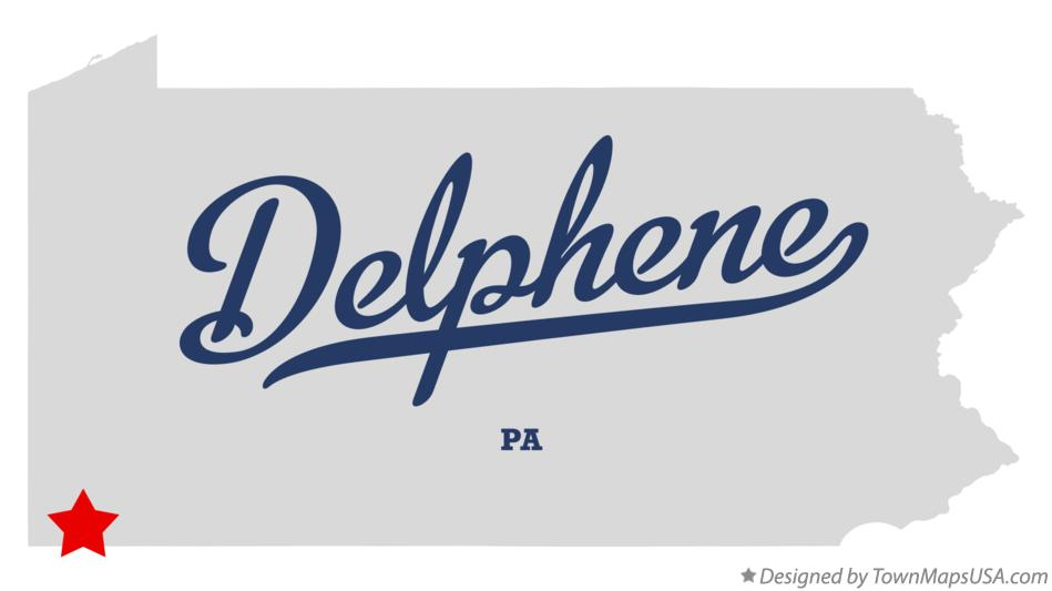 Map of Delphene Pennsylvania PA