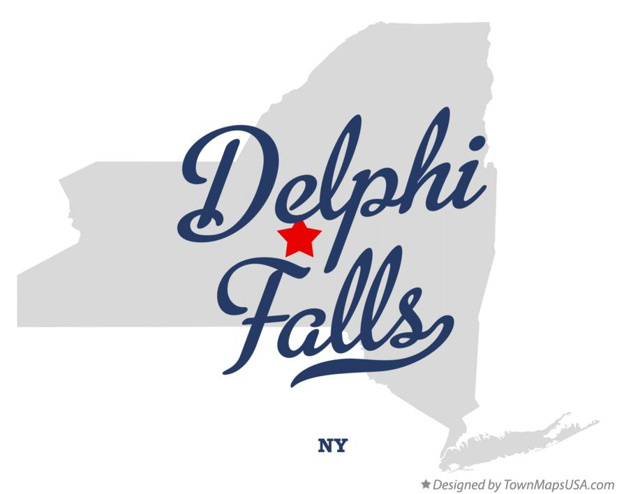 Map of Delphi Falls New York NY