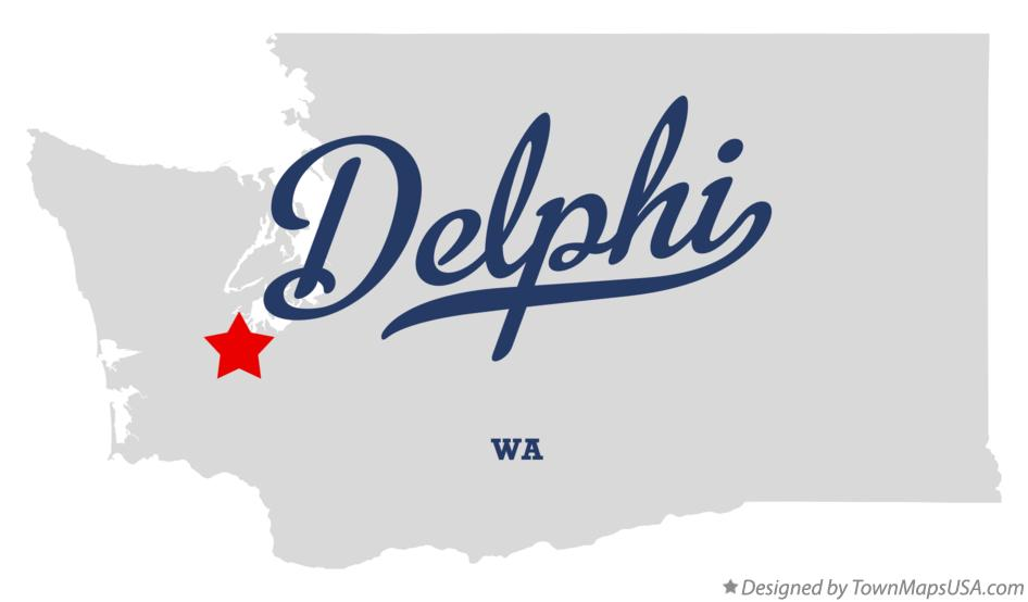 Map of Delphi Washington WA