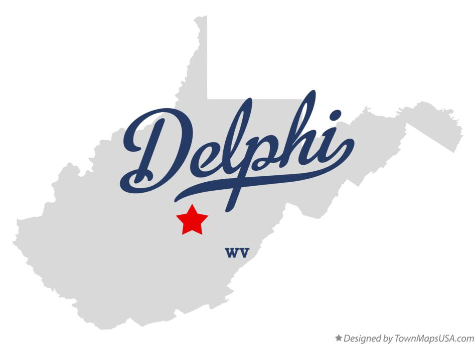 Map of Delphi West Virginia WV