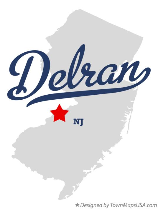 Map of Delran New Jersey NJ