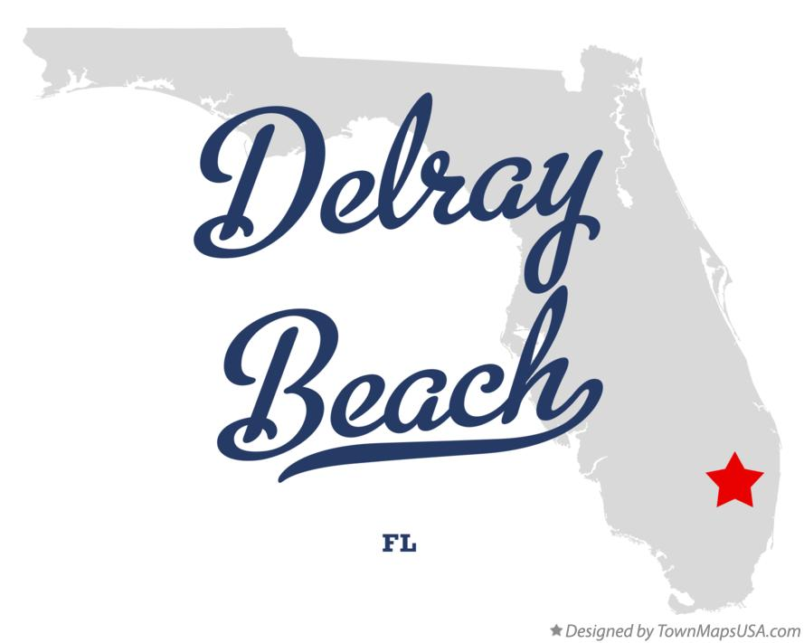 Map of Delray Beach FL Florida