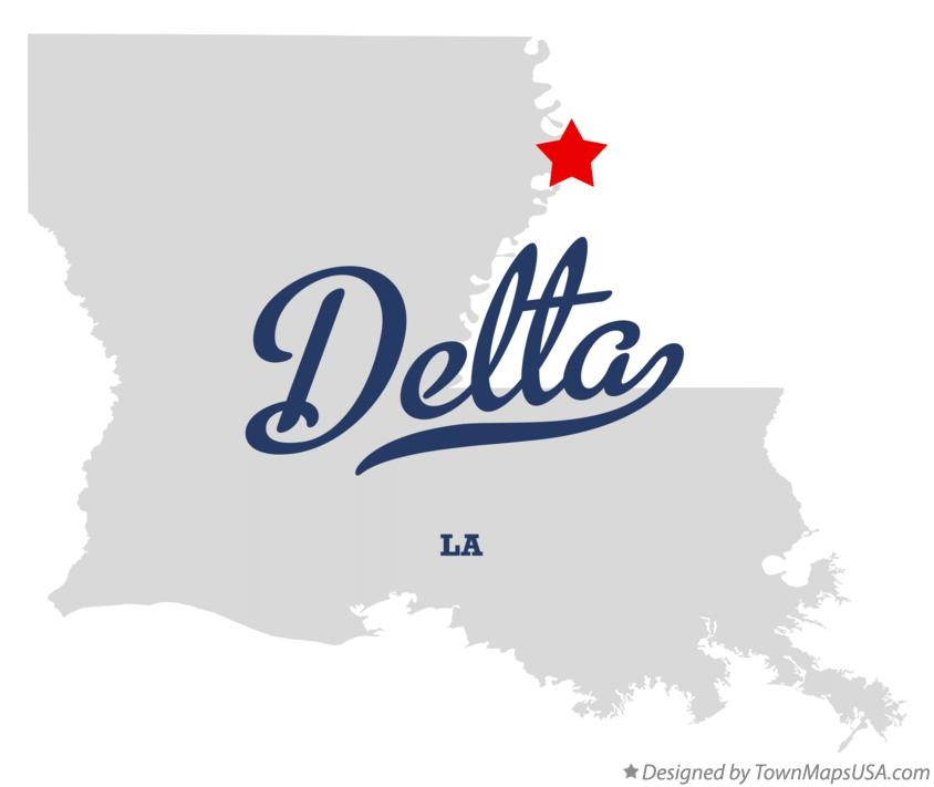 Map of Delta Louisiana LA