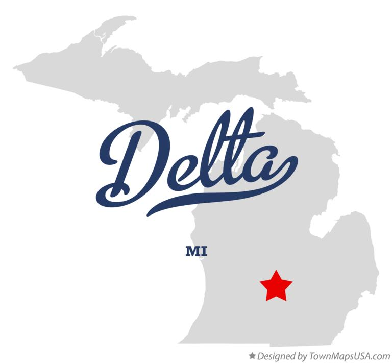 Map of Delta Michigan MI