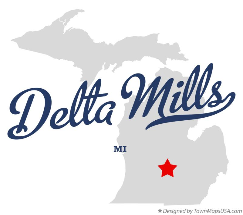 Map of Delta Mills Michigan MI