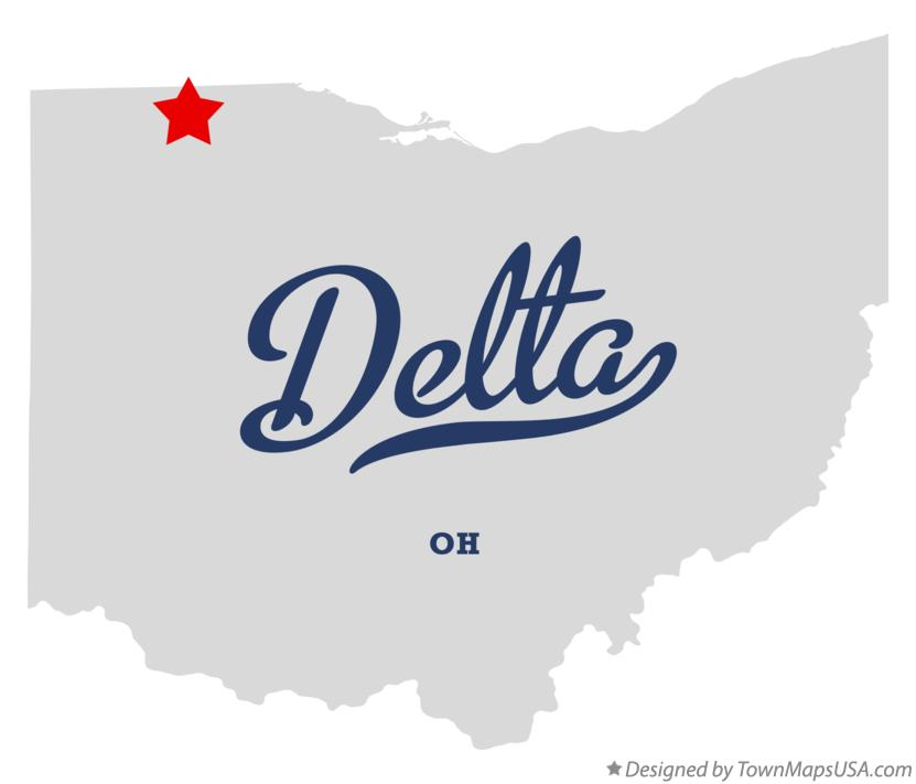 Map of Delta, OH, Ohio