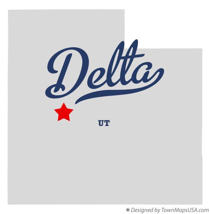 Map Of Delta Ut Utah