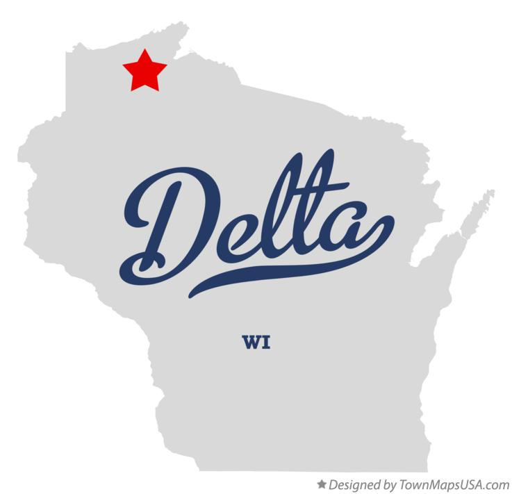 Map of Delta Wisconsin WI