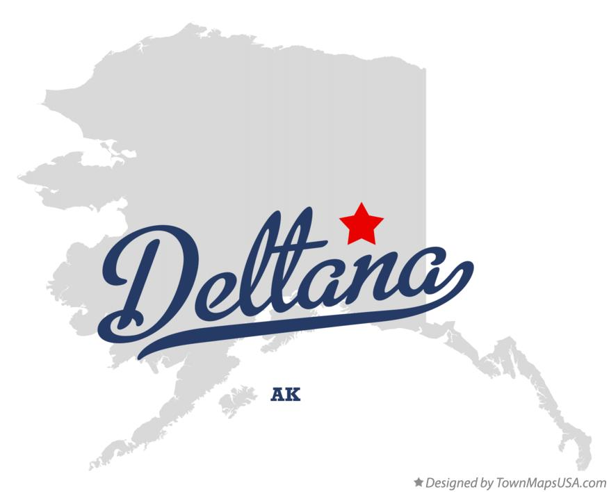 Map of Deltana Alaska AK