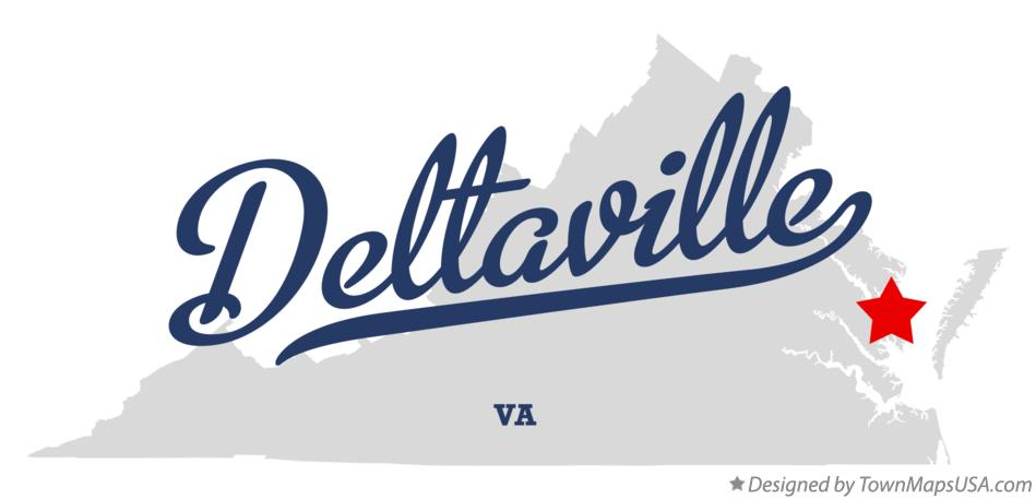 Map of Deltaville Virginia VA