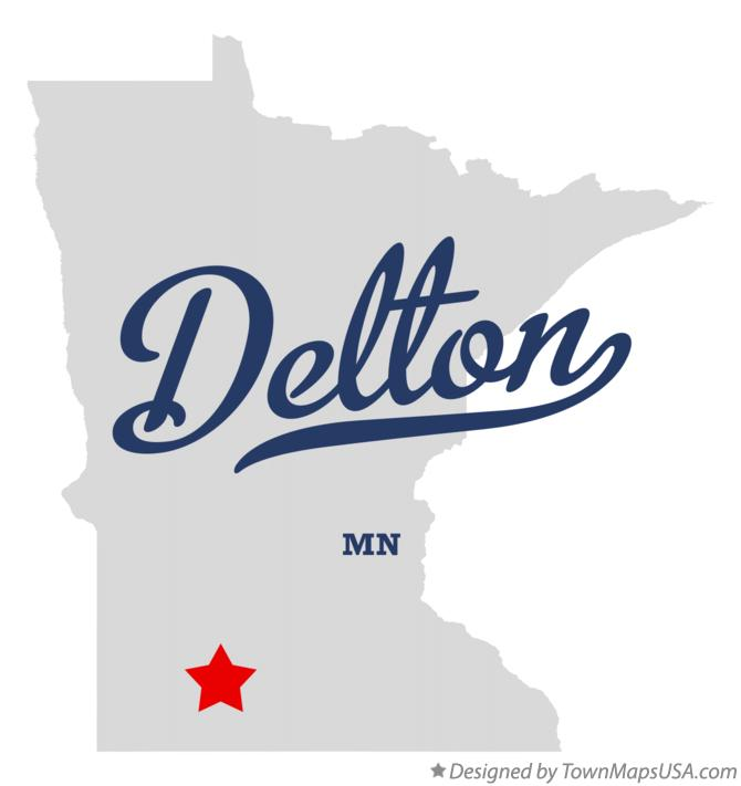 Map of Delton Minnesota MN