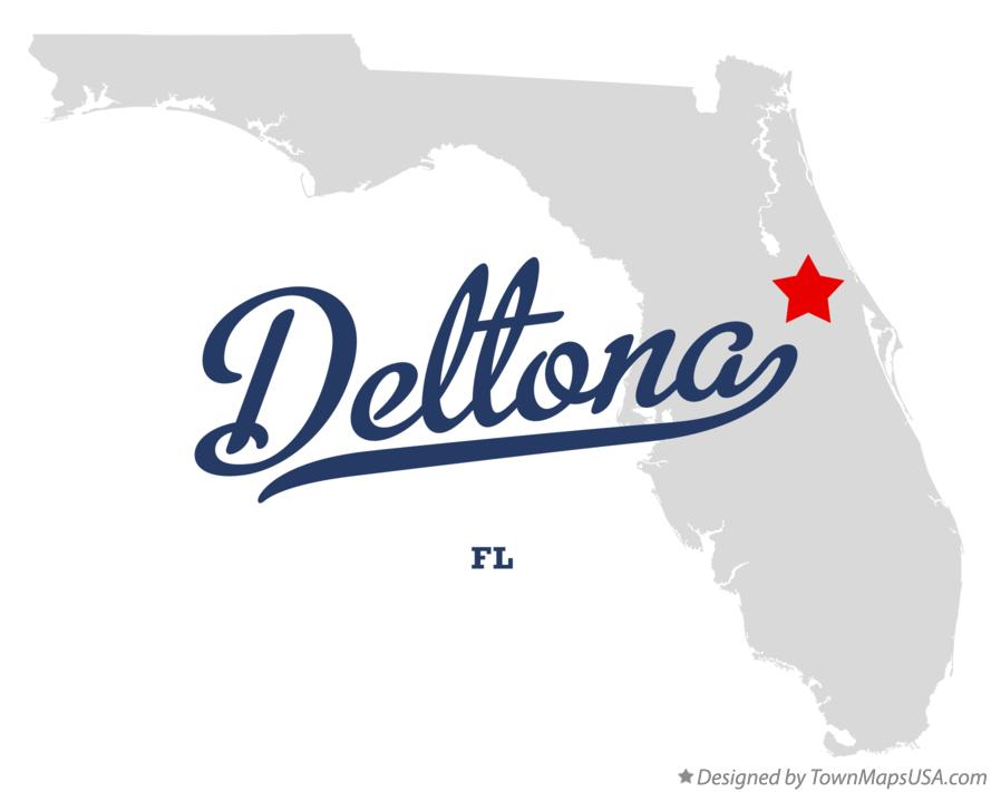 Map of Deltona Florida FL