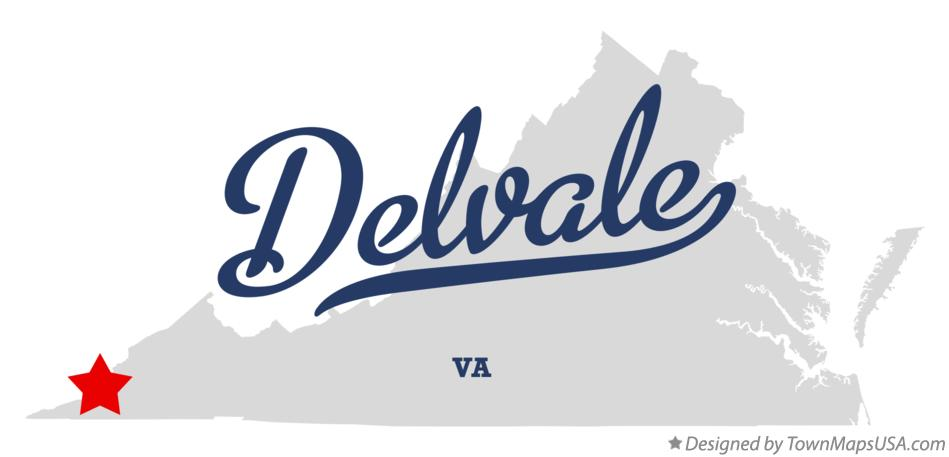 Map of Delvale Virginia VA