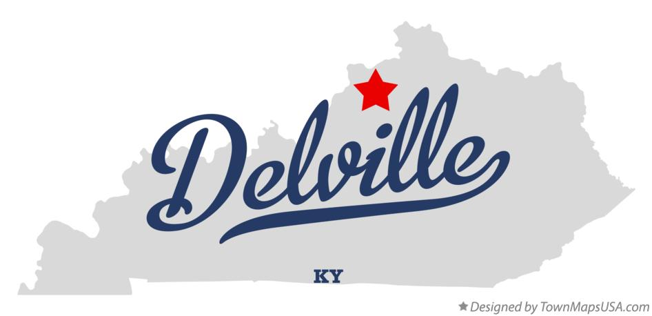 Map of Delville Kentucky KY
