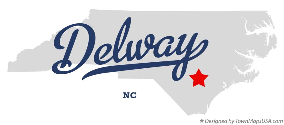 Map of Delway North Carolina NC