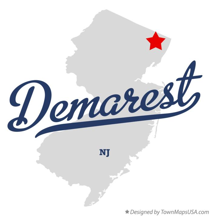 Map of Demarest New Jersey NJ