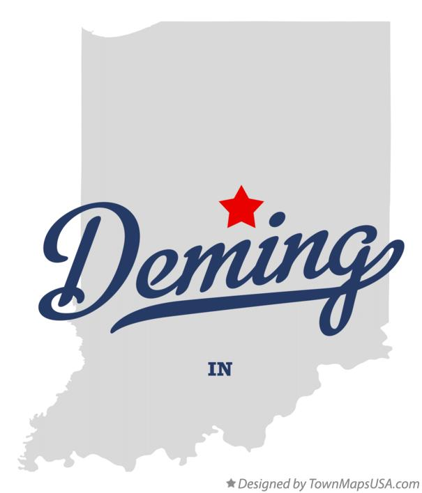 Map of Deming Indiana IN