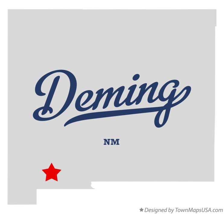 Map of Deming New Mexico NM