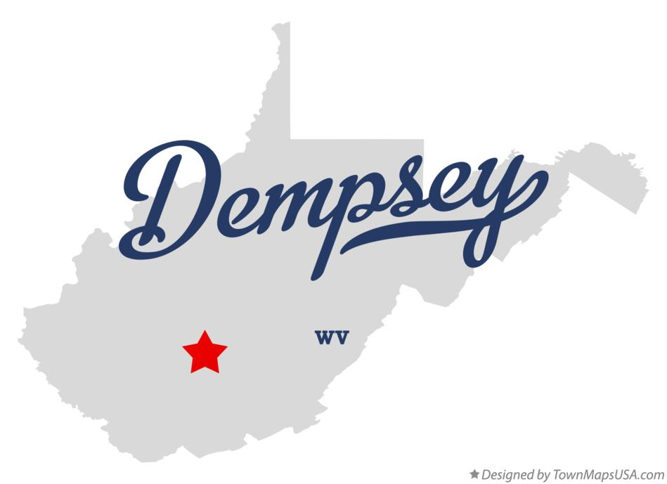 Map of Dempsey West Virginia WV